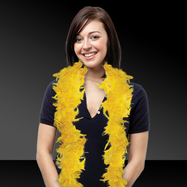 Personalized Gold Adult Size Feather Boa
