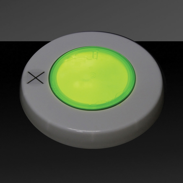 Printed Yellow Glow Light Up Cover Lid