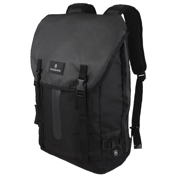 Promotional Flapover Drawstring Laptop Backpack