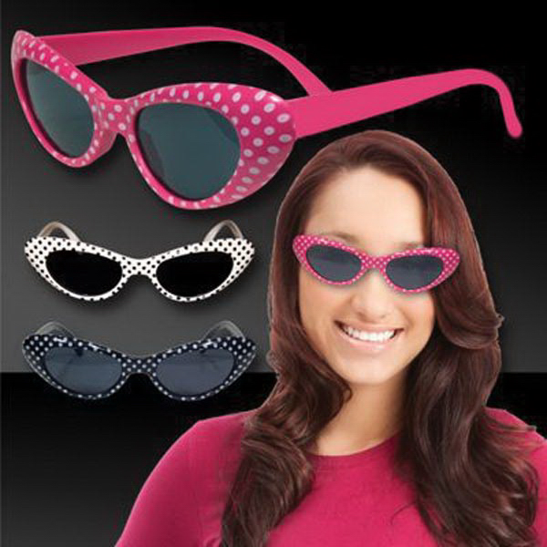 Printed Assorted Colors Polka Dot Funky Costume Sunglasses Glasses