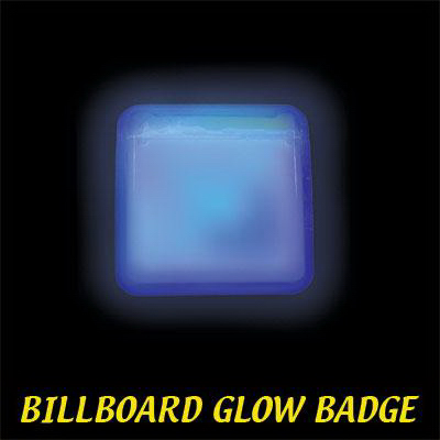 Customized Blue Billboard Light Up Glow Name Badge