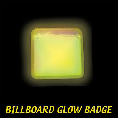 Printed Yellow Billboard Light Up Glow Name Badge