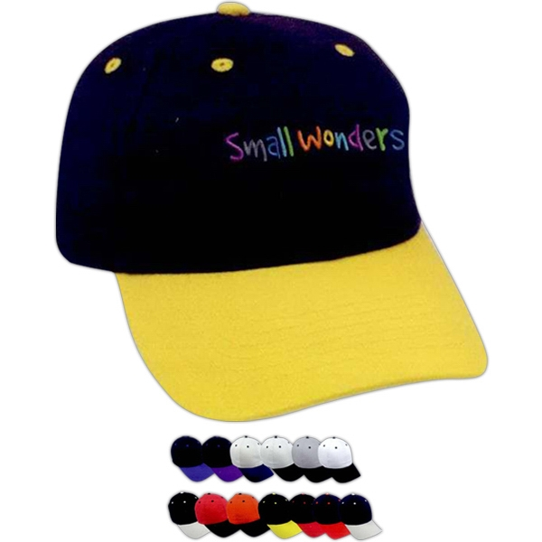 Personalized Two-Tone Brushed Cotton Twill Cap