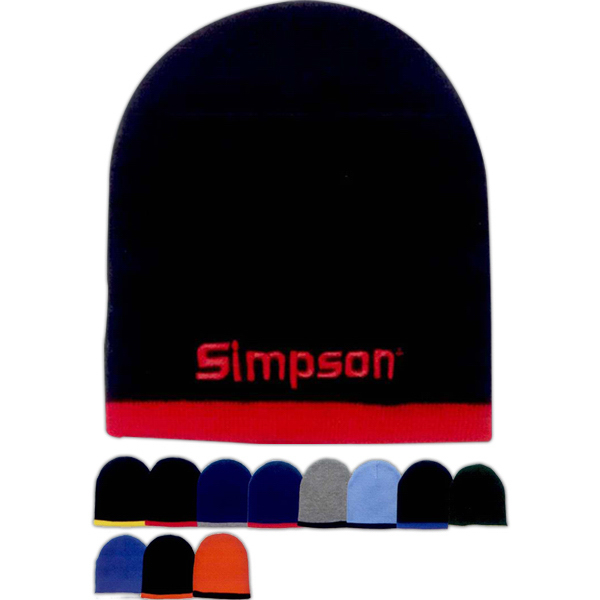 Promotional Two Color Beanie