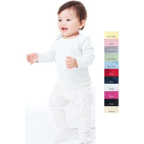 Printed Bella - Canvas Baby Infant Long Sleeve Lap Shoulder T-Shirt