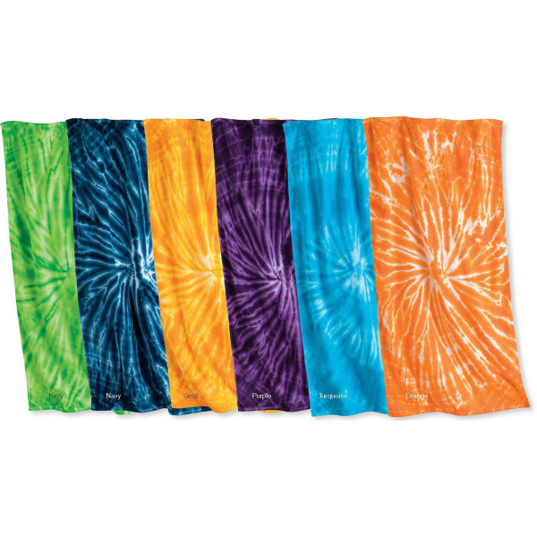 Printed Tie-Dyed Cyclone Beach Towel