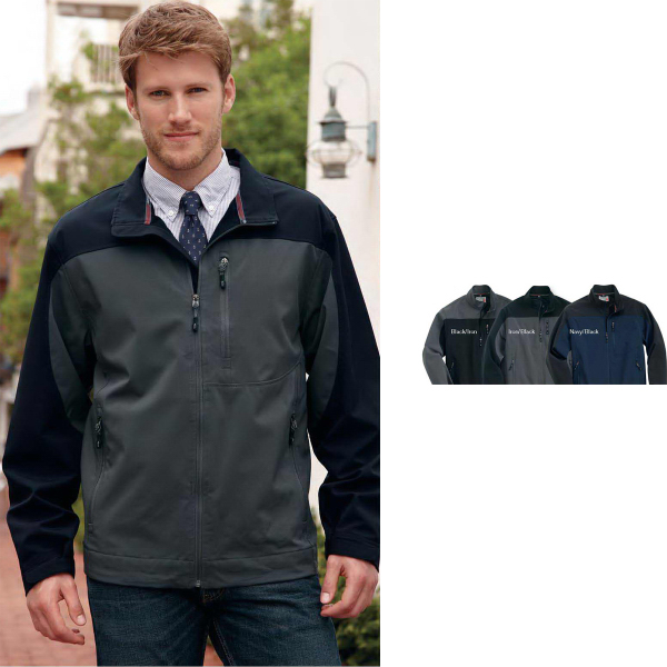 Printed Weatherproof lightweight full zip soft shell