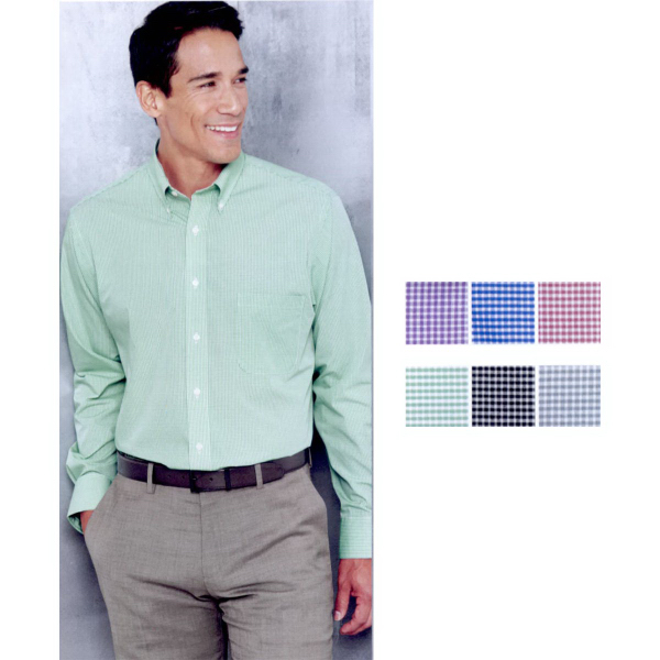 Custom Van Heusen Gingham Check Shirt