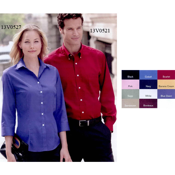 Promotional Van Heusen Ladies' 3/4 Sleeve Baby Twill Shirt