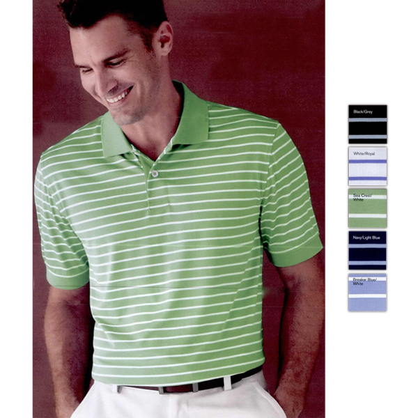 Customized Izod Horizontal Feeder Stripe Performance Sport Shirt