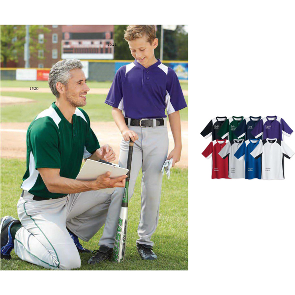 Custom Augusta Sportswear (R) Youth Gamer Baseball Henley