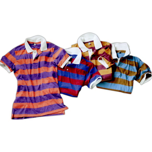 Custom Alternative (R) Eco-Jersey Ugly Stripe Polo