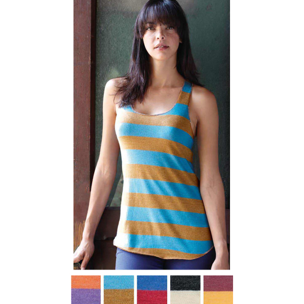 Custom Alternative(R) Ladies Meegs Ugly Stripe Racer Tank