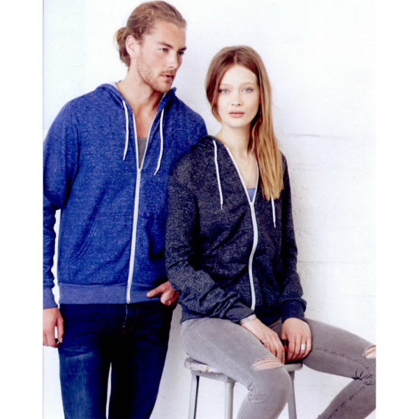 Imprinted Bella + Canvas Unisex Full-Zip Hooded Sweatshirt