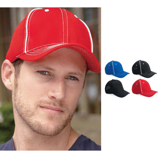 Personalized Magic contrast Stitched and Piped Air Mesh Cap