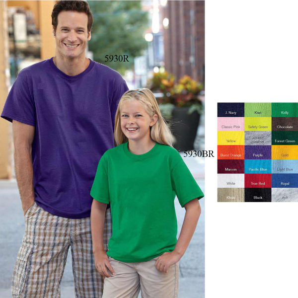 Imprinted Fruit of the Loom (R) Youth Best (TM) 50/50 T-shirt