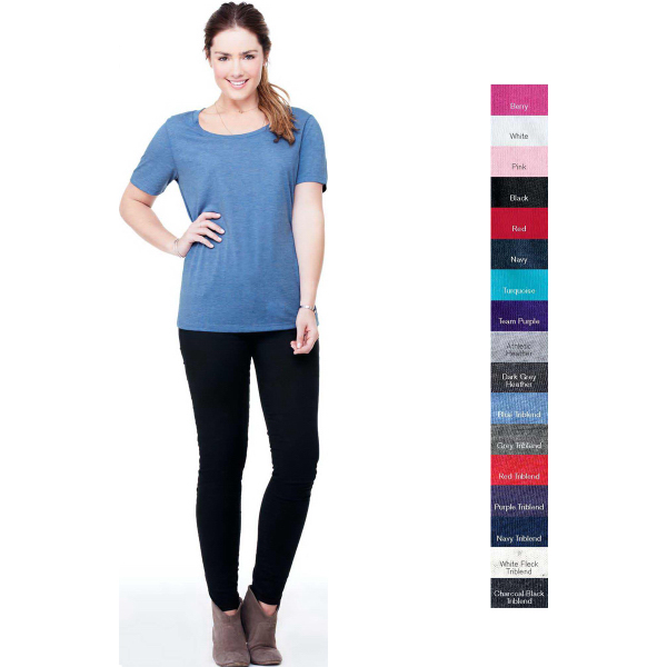Promotional Bella + Canvas Missy Triblend Scoop Neck T-Shirt