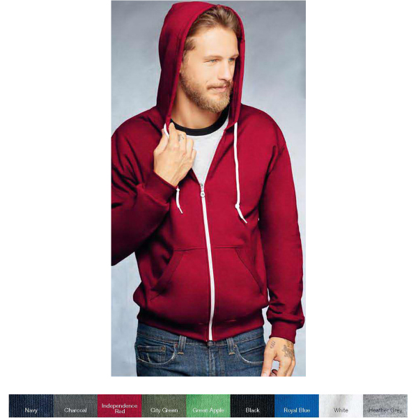 Imprinted Anvil (R) Fashion Full Zip Hooded Sweatshirt