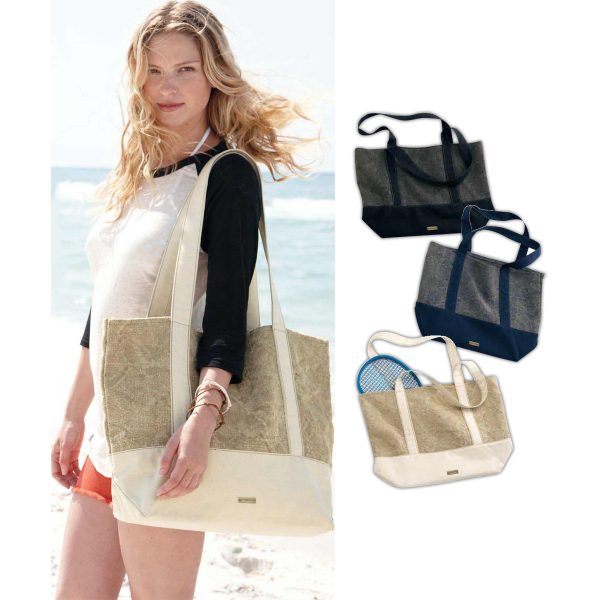 Personalized Alternative Jute Beach Tote