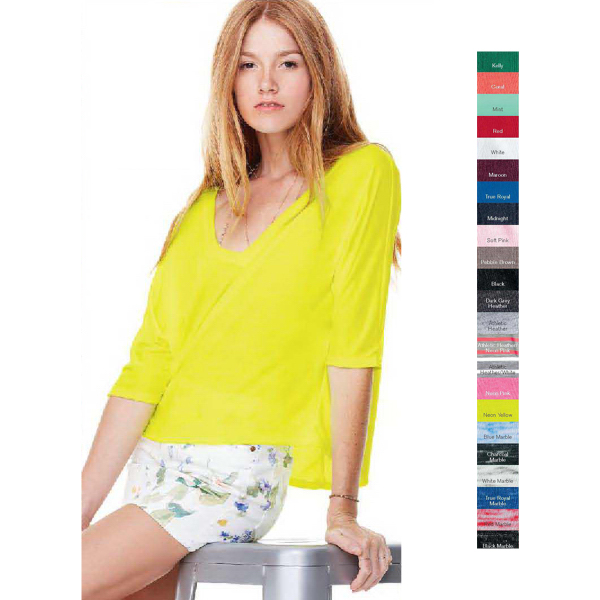 Promotional Bella + Canvas Ladies' Flowy V-neck Cropped T-shirt