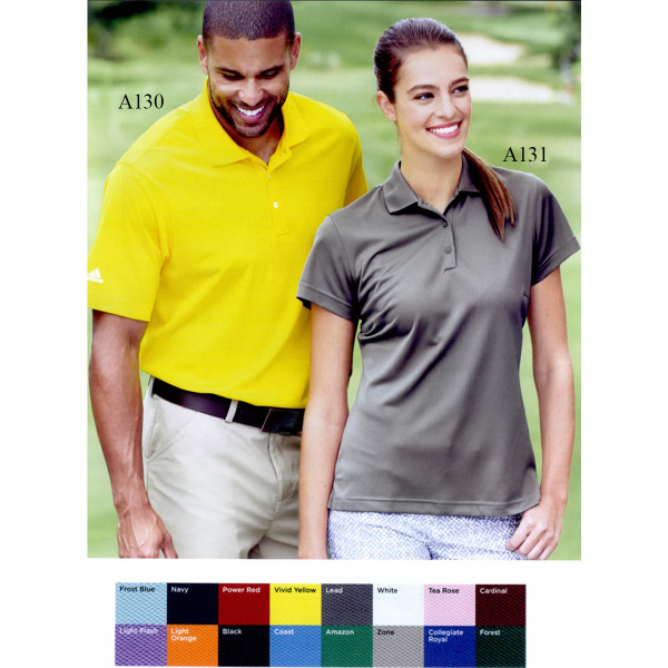 Custom Adidas Golf ClimaLite Basic Short Sleeve Sport Shirt