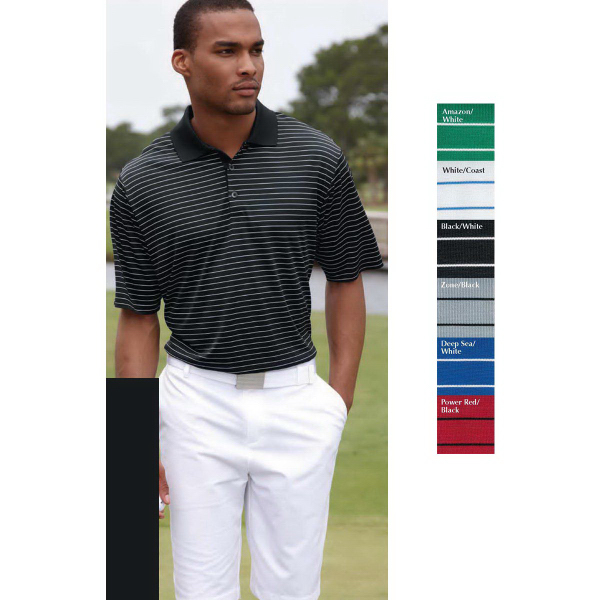 Promotional Adidas Golf ClimaLite (R) Pencil Stripe Sport Shirt