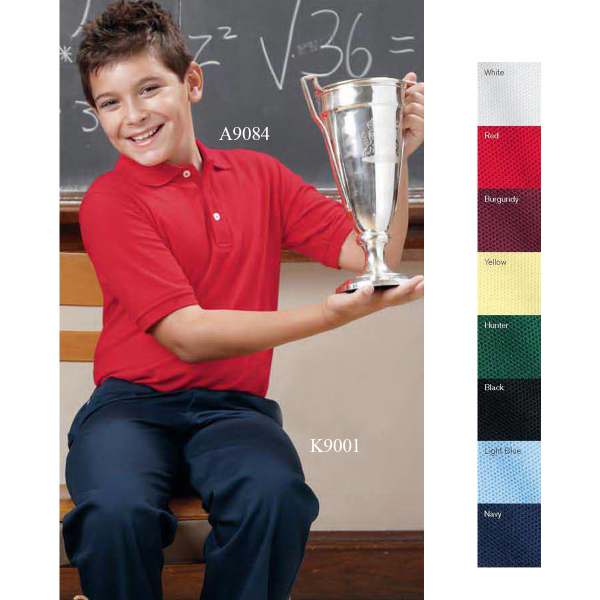 Imprinted French Toast Husky Youth Short Sleeve Pique Polo