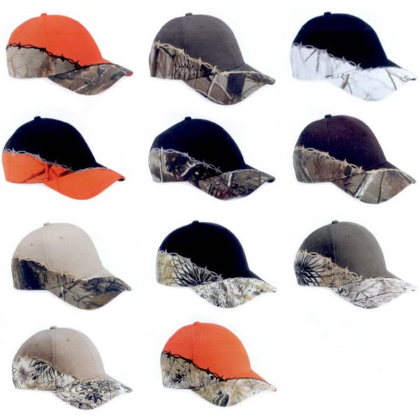 Promotional Kati Camo Cap with Barbed Wire Embroidery