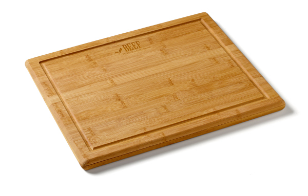 Printed Bamboo Cutting Board w/Dripwell