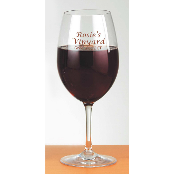 Personalized 19 oz Red Wine Glass