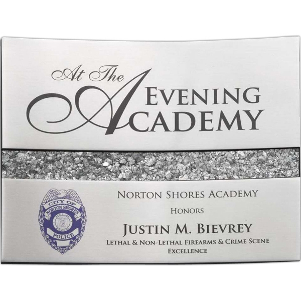 Printed Silver Curve Wall Plaque