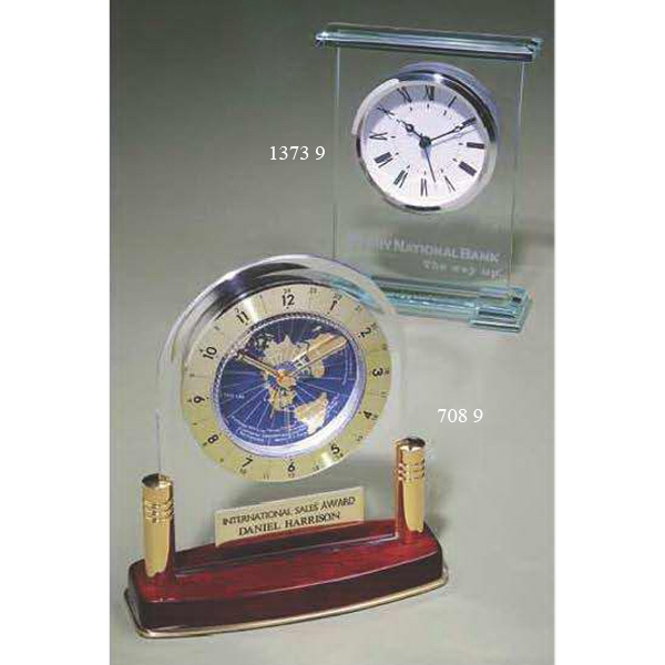 Imprinted Jade Award Clock