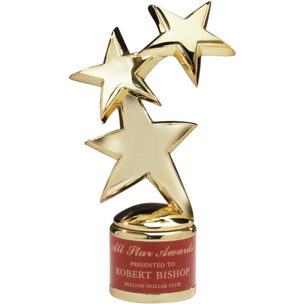 Customized Romanoff Constellation Stars Gold Plated Award on Base