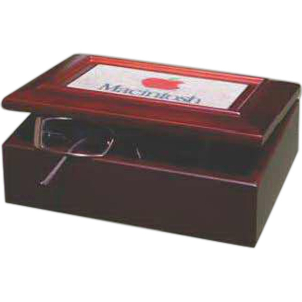 Imprinted Wood Box with Stonecast Inlay