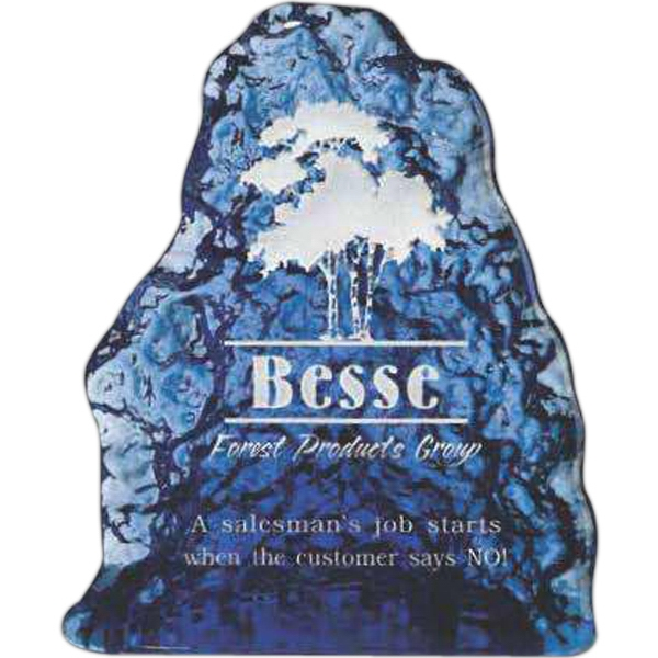 Personalized Cobalt Iceberg Glass Award
