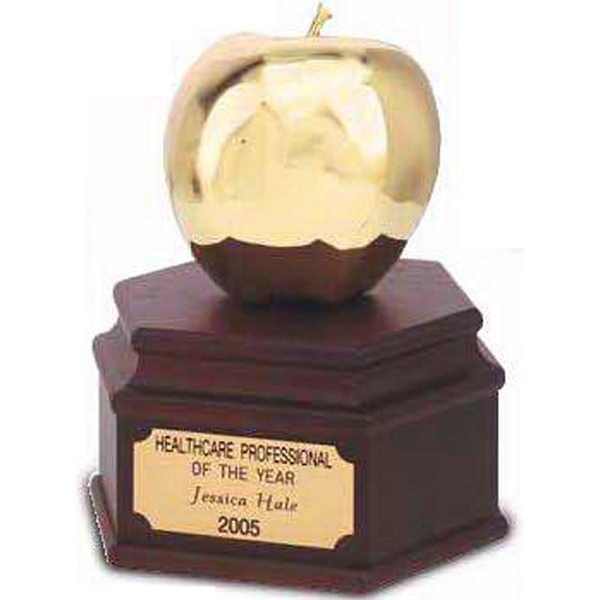 Custom 24K Golden Apple Award