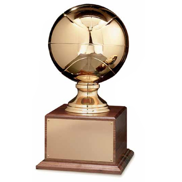 Printed Gold Basketball Award With Stand