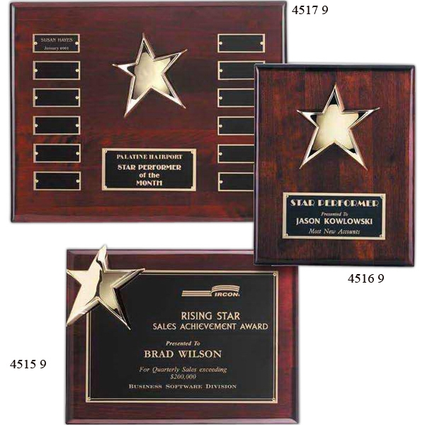 Personalized Corner Star Plaque