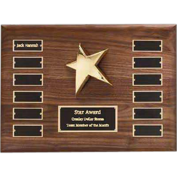 Imprinted Perpetual Star Plaque