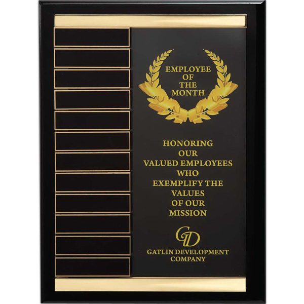 Custom Brass Channel Perpetual Wall Plaque