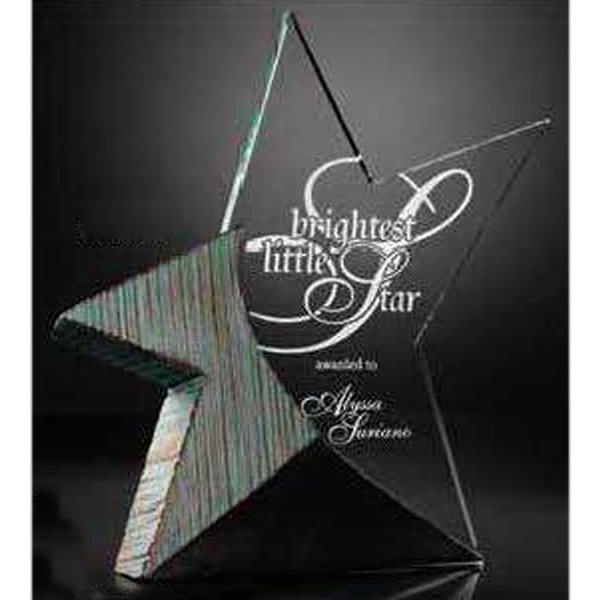 Imprinted Brilliance Acrylic Award with Stonecast (TM) Base
