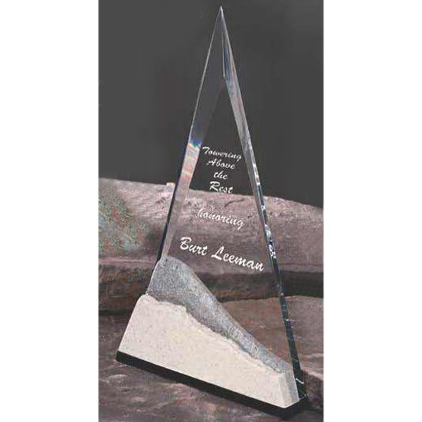 Personalized Summit Acrylic Award with Stonecast (TM) Base