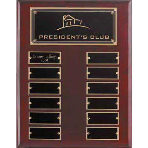 Custom Rosewood Piano Finish Perpetual Plaque