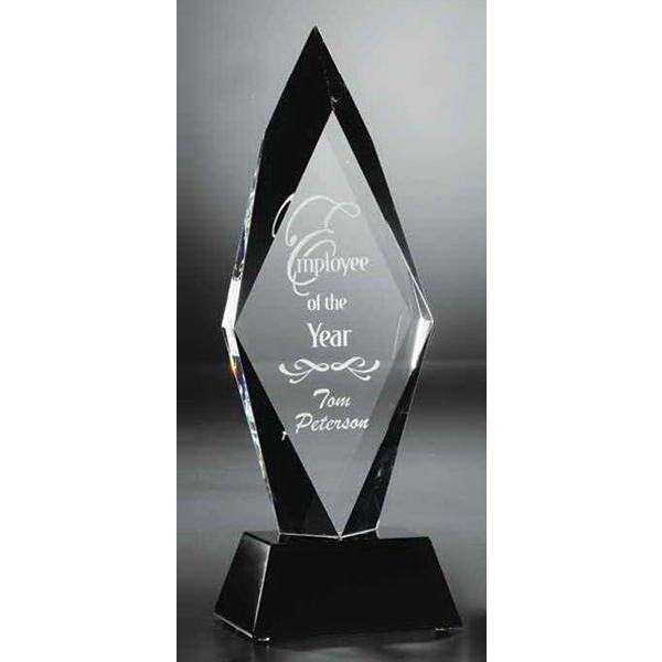 Personalized Ebony and Crystal Radiance Optical Crystal Award