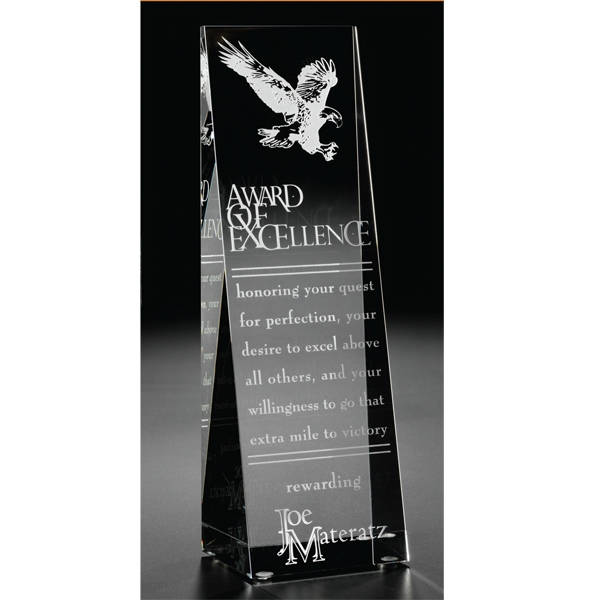 Custom Aviator Optical Crystal Leadership Award