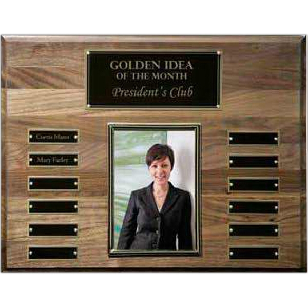 Customized Walnut Perpetual Photo Wall Plaque