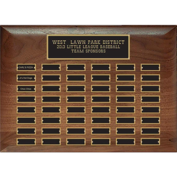 Promotional Hand Rubbed American Walnut Plaque