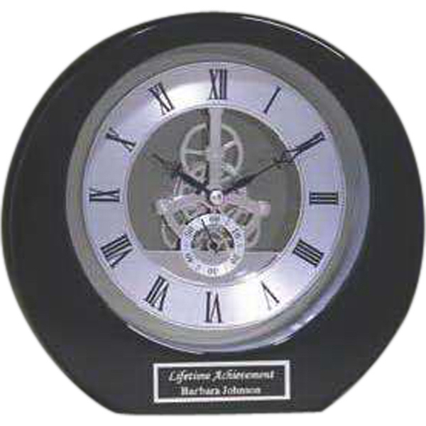 Customized Silver Accent Round Clock