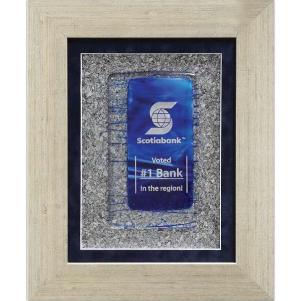 Customized Mica Sapphire Art Glass Wall Plaque