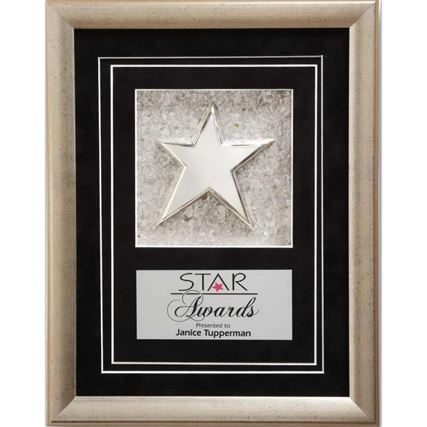 Customized Silver Mica Star Award
